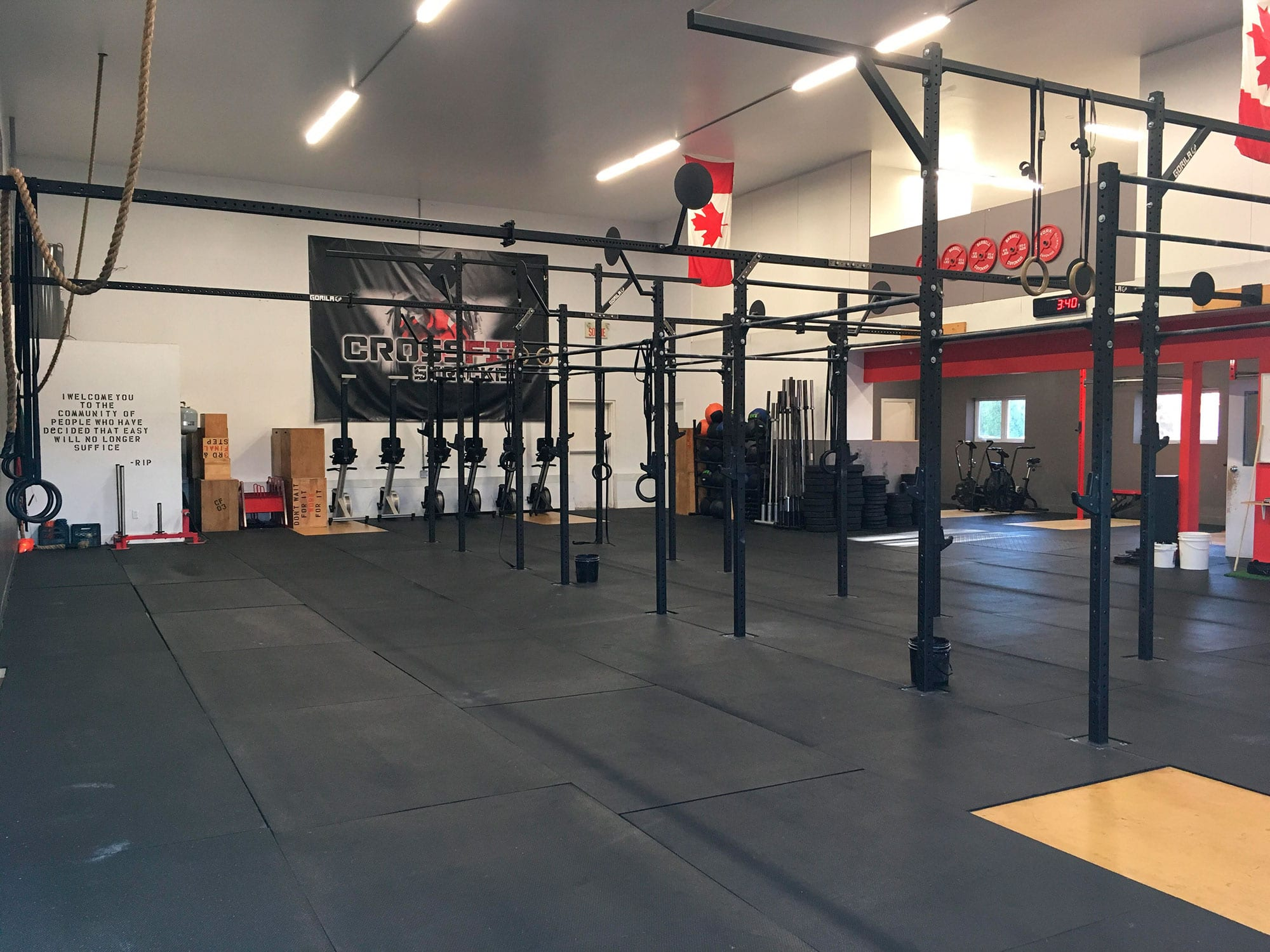 Crossfit stricken installations
